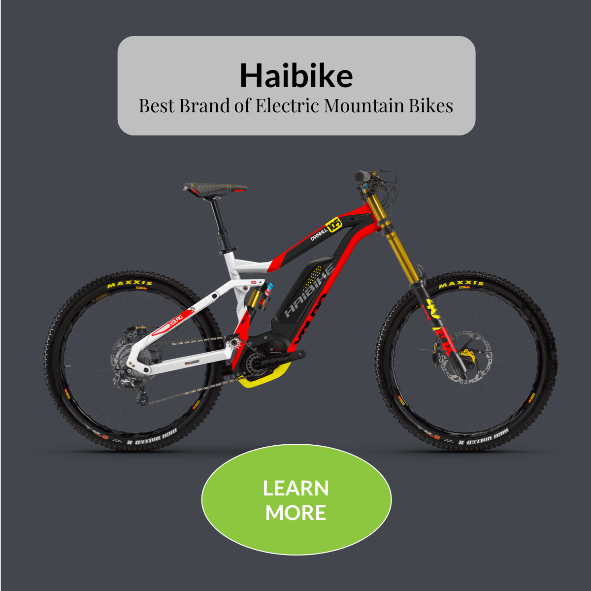 Haibike Best Brand of Electric Mountain Bikes