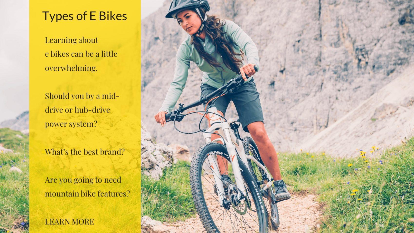 Types of E Bikes